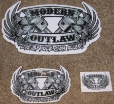 Modern Outlaw Piston Wings Stickers