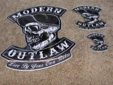 Modern Outlaw Skull Stickers